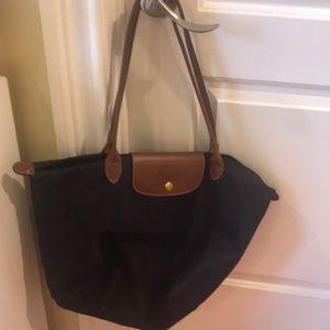 Large longchamp purple bag